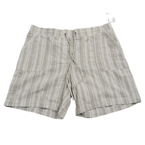NWT Talbots Tan & White Pocket Shorts Women's Size 16