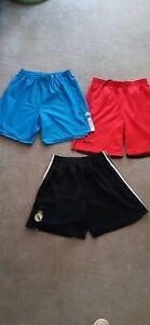 Mens Sz Small Adidas, real Madrid & Manchester Shorts