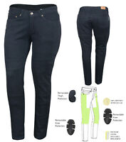 AUSTRALIAN BIKERS GEAR Ladies Jeans M'cycle lined with DuPont™ Kevlar® CE armour