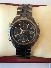 Vintage Seiko Quartz Chronograph Alarm Men's Watch 7T32 6M69