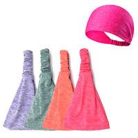 Mens Women Sweat Sweatband Headband Yoga Gym Running Stretch Sports Head B I Yf