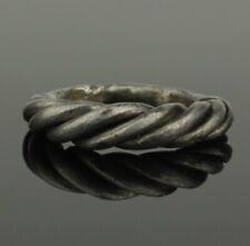 ANCIENT VIKING BRAIDED SILVER RING - CIRCA 9th/10th CENTURY    081