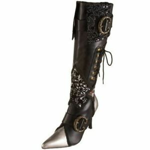 Pleaser USA Daring-2060 Pirate Costume Boots NEW Size 9 US Seller