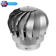 Stainless Steel Rotating Roof MAD Spinner Cowl Chimney Flue Anti Down Draught