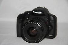 EOS 500D Canon + el objetivo + accesorios