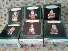 Hallmark Miniature Ornaments Centuries Of Santa Complete Series Series 6 New
