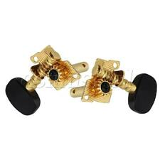 Ukulele Tuning Pegs Machine Heads Tuners Black Stainless Steel & Plastic 2L2R