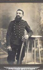 grande CDV portrait militaire 2è régiment sabre barbe bottes vers 1900
