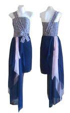 Cotton Blend Asymmetrical Hem Hand-wash Only Regular Dresses for Women