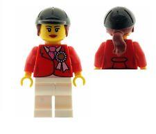 LEGO Female Horse Rider Minifigure with Award Ribbon & Ascot PatternTorso NEW