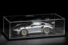 1/18 Spark Porsche 991 GT2 RS Weisach in Silver Dealer Edition