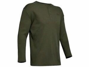 Under Armour 1343253 UA Outdoor Waffle Henley Long Sleeve Shirt, Guardian Green