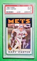 1986 Topps Gary Carter #170 PSA 9 MINT Mets HOF 1986 World Series Year