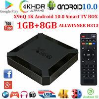 2020 X96Q ALLWINNER 1+8G 4K Smart TV BOX Android 10.0 Pie Quad Core Wifi HDMI2.0