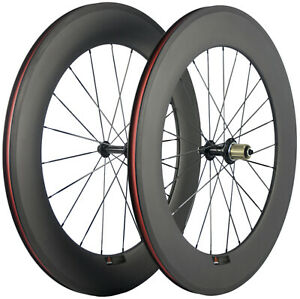 88mm Clincher Wheelset Carbon Bike Wheelset 23mm Width Cycle 700C Bicycle 23mm