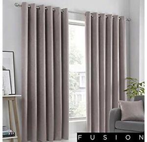 "Curtains Quida Fusion Strata Blush 90x108""Eyelet Room Darkening NEW FREE P&P (P)"