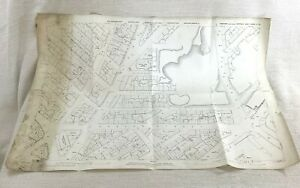 1890 Antique Map of Sheffield Burngreave Ward Vestry Hall West Yorkshire 19th C
