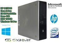Desktop HP DC7900 SFF PC FISSO C2D E8400 3,00GHz 4GB Ram160GB HDD Win 10 Pro