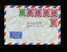 Germany 1951 Posthorn 40 pfg Horiz Pair X 2  Mif on cover to Chicago.