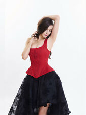 Royal Style Embroidery Bandage Corset - Red