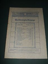 The Theosophic Messenger for August 1909 Occult Metaphysics Religion Philosophy