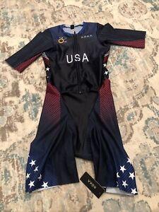 ROKA Womens USA Elite Aero II Tri Suit Size Medium NWT