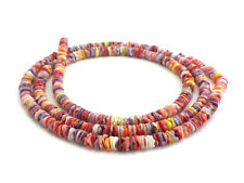 Multicolored Pectin Shell Heishi Beads (4 - 5 mm / 24 Inches Strand)