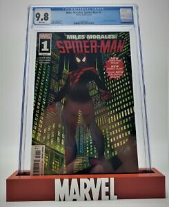 Miles Morales Spider-Man #1, CGC 9.8 2019 White Pages Brian Stelfreeze Rhino!