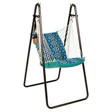 algoma 1525195196br soft  fort hanging chair with stand blue new algoma hammock stands   ebay  rh   ebay