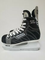 Bauer Supreme Silver Comp Hockey Ice Skates Youth Size US 3 Skating US2R Black