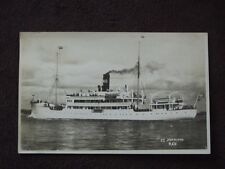 WW2  S.S. NORDLAND R.C.G  GERMAN TROOP SHIP  VTG  REAL PHOTO POSTCARD #2