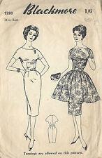 1950s vintage Näh Muster B34 Kleid (1015)