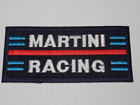 MOTORSPORTS RACING CAR SEW ON / IRON ON PATCH:- MARTINI RACING DARK BLUE STRIPE