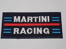 MOTORSPORTS RACING CAR SEW ON / IRON ON PATCH:- MARTINI RACING DARK BLUE STRIPE