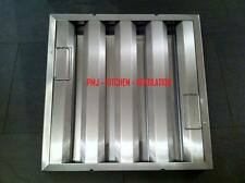 Baffle Grease Filter 595x595x45mm 0.9mm Stainless Steel