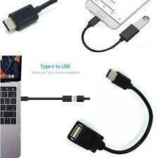 USB Enchufe Macho Tipo C A Usb Hembra Otg Cable Adaptador De Plomo Android Tablet Teléfono
