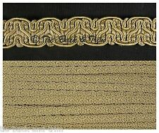 5 Metres of 8519 Silky Braid Gimp 15mm Trimmings Upholstery Craft Edging Trim 406 ANT Gold
