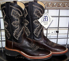 Anderson Bean Nicotine Smooth Ostrich Crepe Sole Cowboy Boots 6B Ladies 7 to 7.5