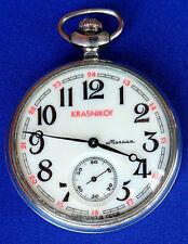CCCP Soviet USSR Russian vintage pocket watch MOLNIJA Krasnikof ship 220835