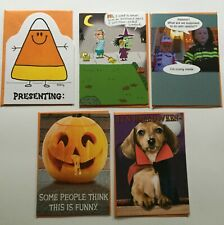 NEW HALLOWEEN LOT OF 5 RECYCLED PAPER GREETINGS CARDS BY PAPYRUS $18.35 VALUE