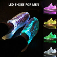 Light Shoes Men's Lace-Ups Shoes Colorful LED Shoes Gift Sportswear Sneaker Size