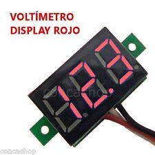 VOLTIMETRO DIGITAL 3 HILOS DC 3 DIGITOS LED ROJO 0-32 V MICROCONTROLADO - ESPAÑA