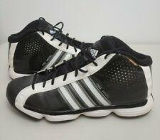 Adidas Pro Model adiPRENE Black with White Stripes, Size 14