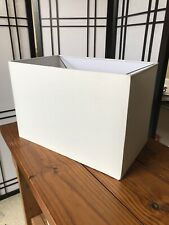 """White Rectangular Lamp Shade Modern Polyester Fabric 15"""" X 10"""" By 9"""" Spider"""