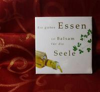 Dekofliese Wandbild Bildfliese Geschenkidee Spruch Ein gutes Essen ... (025DP)