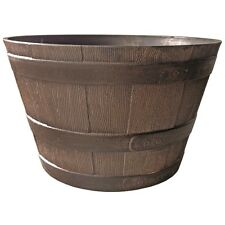 Northcote Pottery 52cm Kentucky Walnut Whiskey Barrel Planter