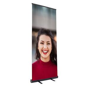 "Retractable Aluminum Banner Stands 33.5"" x 78.5"" Trade Show Display"