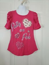 Stardoll Girls Top Size Small S(7) Pink Graphic Tee