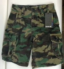 New Mens 24 Hurley One And Only Cargo Camo Green Long Land Shorts NWT