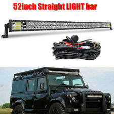 """52""""  Straight LED Light Bar  Combo wire kits for LAND ROVER DEFENDER 90 110 130"""
